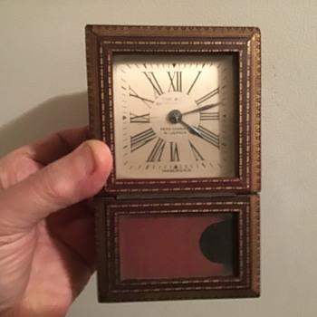 Seth Thomas 4X6 inch 8-day calendar clock  - Clocks