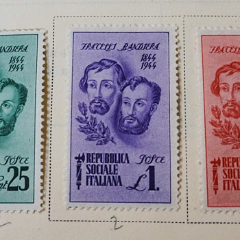 Fracelli Bandiera 1844-1944 Italian Stamps - Stamps