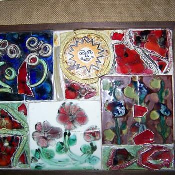 Ceramic art framed pictures 1970 - Pottery