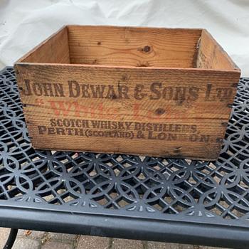 Dewar's White Label Crate - Advertising