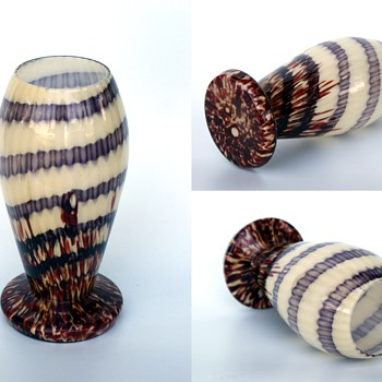 WELZ????  Stripes and Spots with a spiral purple glass - Art Glass