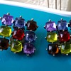"PART I -Unusual ""Not Gems/ Not Glass"" Clip On Earrings, Thrift Shop Find 25 Cents"