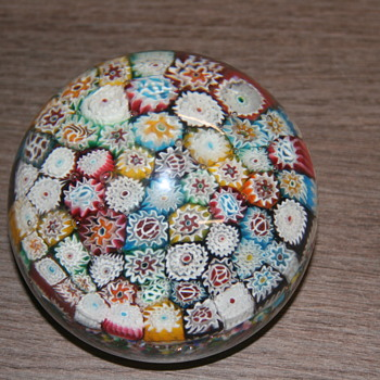 Paperweight millefori identification if anyone can help. - Art Glass