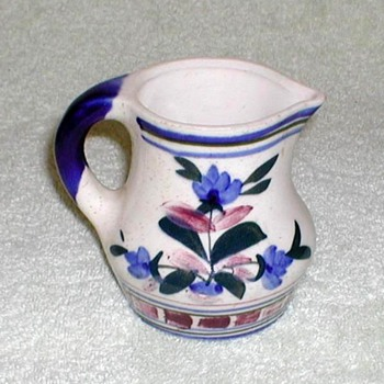 Stoneware Creamer with Floral Design - China and Dinnerware