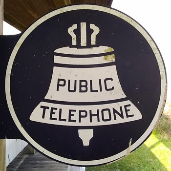 Bell Public Telephone Sign! - Signs
