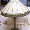 Old Brass Slag Table Lamp
