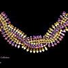 Rare Signed Sherman Twisting & Interweaving Rows Pink AB & Citrine Rhinestone Bracelet