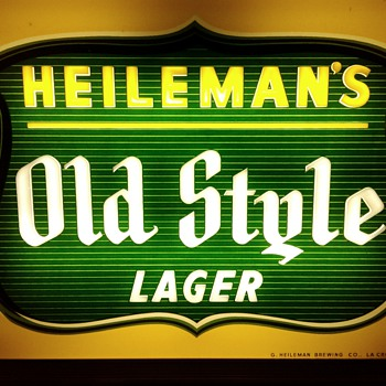 1950,s  Old Syle Lighted Sign - Breweriana