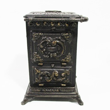 Cast Iron Gas Stove Bank - Toys