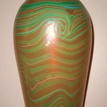 KEW BLAS KING TUT VASE  c. 1900 - Art Glass