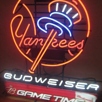 NY Yankees Bud Gametime neon - Signs