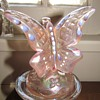 Pink Butterfly Alighting on Branch, Fenton, from AmberRose! : )