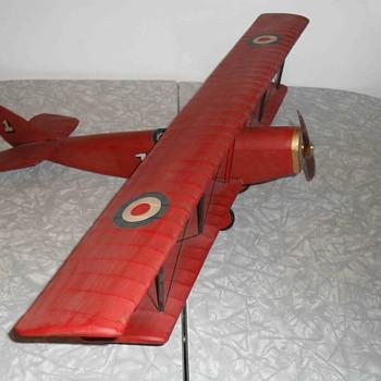 World war 1 Bristol fighter plane. - Toys