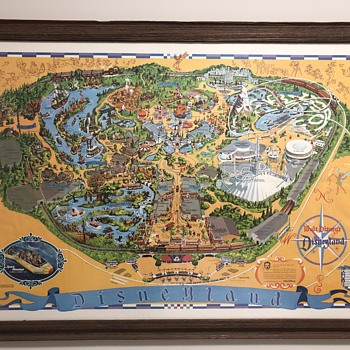My mint condition Disneyland map (1976) - Posters and Prints