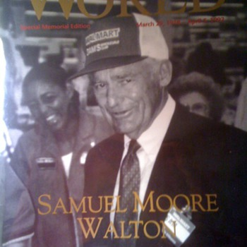Sam Walton Wal-Mart World Magazine Memorial 1992 - Paper