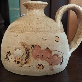 Stoneware jug by Grace J. Pelton - Pottery