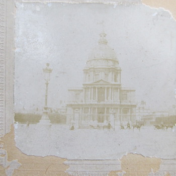 Antique Cabinet Card or CDV - is this the Capitol building? - Photographs