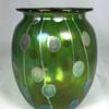 """Loetz """"Streifen und Flecken"""" Vase. 6"""" tall. PN 2/459. Circa 1900"""