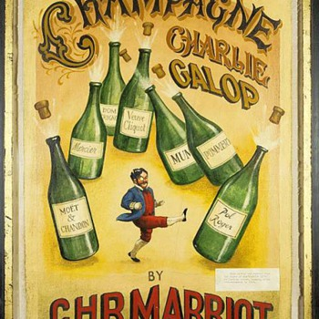 """Champagne Charlie Galop by C.H.R. Marriott"" - an early canvas - Posters and Prints"