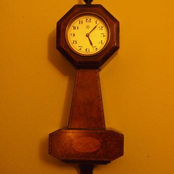 1930's Herman Miller/Leon Hatot Art Deco Banjo Clock, #3019