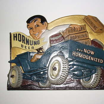 Hornung Beer Composition Sign 1940's - Advertising