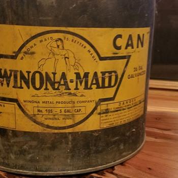 Winona-Maid oil can  - Petroliana