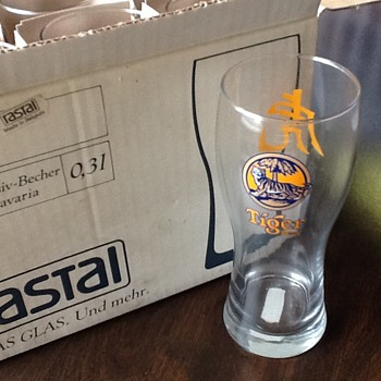 Tiger beer glasses