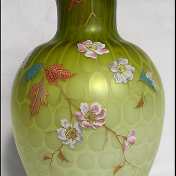 Harrach Atlas Glass Vase circa 1885  - Art Glass