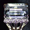 """Lucille M. Bell's Aquamarine and Diamond ring, wife of Lawrence Dale """"Larry"""" Bell, Founder of The Bell Aircraft Company"""