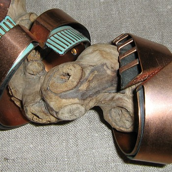 Matisse, Renoir and unsigned 1950's copper bracelets - Costume Jewelry