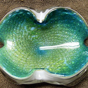 Thursday Thrifts ? -- Murano Art Glass Bowl (( 2/of 3 Finds )) - Art Glass