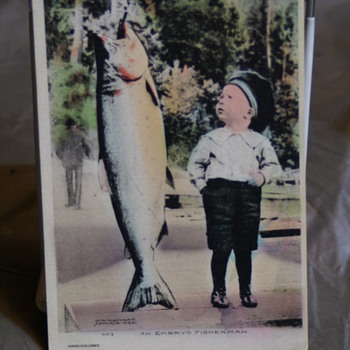 1911 Post marked Hand Colored O.W. WhitMan POSTCARD - Postcards