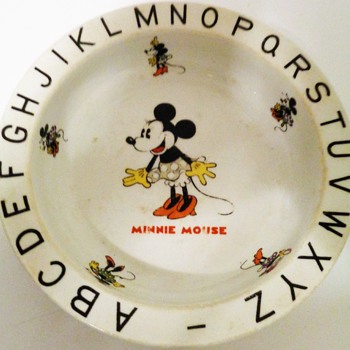 Minnie Mouse vintage cereal bowl - China and Dinnerware