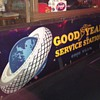 1920's Goodyear Service Station porcelain sign
