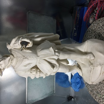 Antique bisque figure Staffordshire? Minton ? English Registry Mark , Any info appreciated  - Figurines