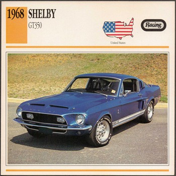 Vintage Car Card - Mustang Shelby GT350 - Cards
