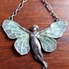 Art Nouveau Plique and Silver Fairy, Likely Meyle and Mayer?