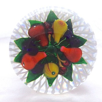 1985 St. Louis France Bouquet of Fruit Piedouche - Art Glass