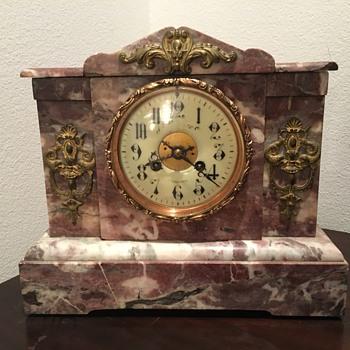 JE Caldwell Mantel Marble clock - Clocks