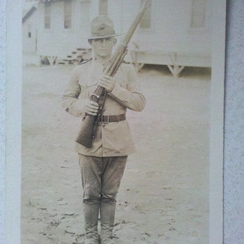 WWI era USMC Marine Corps RPPC super nice! - Military and Wartime