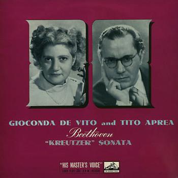 HMV ALP 1319 - Beethoven - Sonata No. 9 - Gioconda De Vito - Tito Aprea