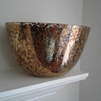 Kiln-fired glass tea bowl with gold? - Glassware