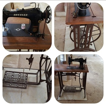 Early Brother Treadle Machine - works