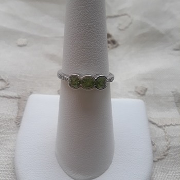 Demantoid Garnets set in 14Kt White Gold - Fine Jewelry