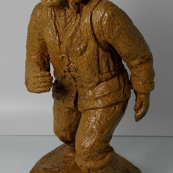Scramble, Metal cast wwII Pilot,by J.A.Hagan, 20 Century - Fine Art