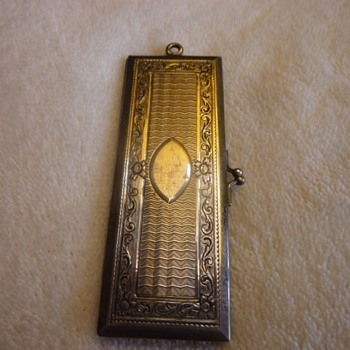 Stamp case???  Sterling? Need help with what it was used for???? - Silver