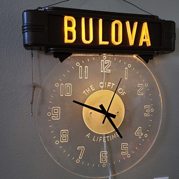 bulova watch sign - Clocks