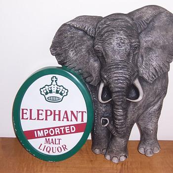 Elephant Malt Liquor sign