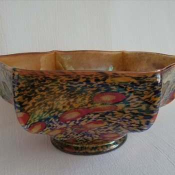 Kralik Millefiore and Spatter Bowl - Art Glass