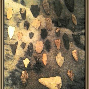 Native American  arrowheads  - Native American